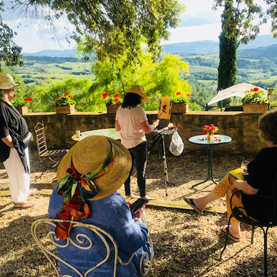 Winslow Art Center offers Plien air painting trips to Umbria Italy
